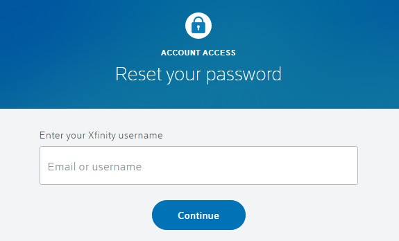 Reset Xfinity Wifi Login Password